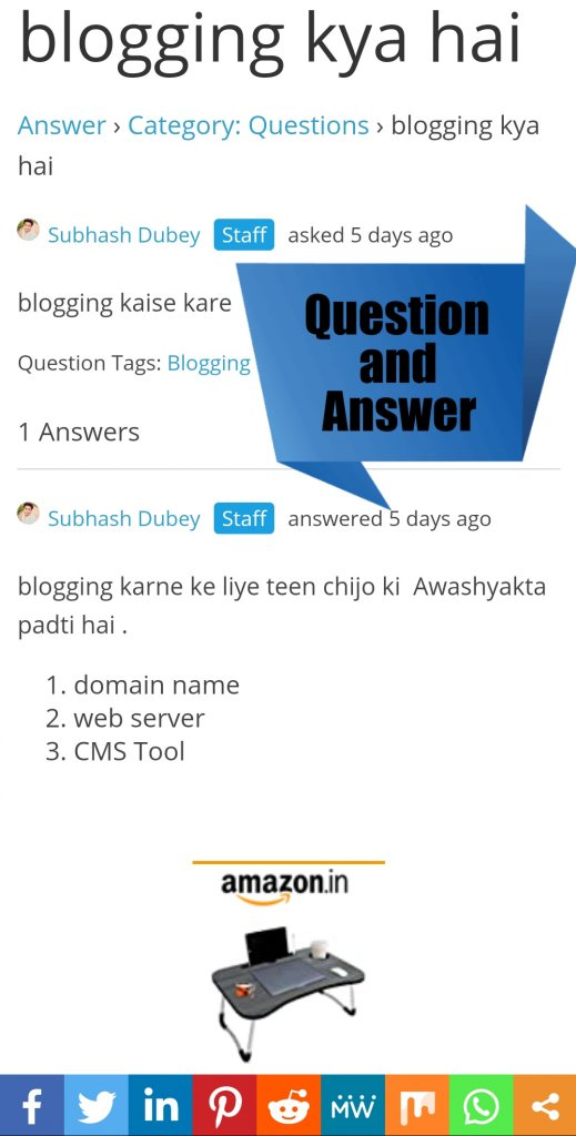 Question and Answer social media1