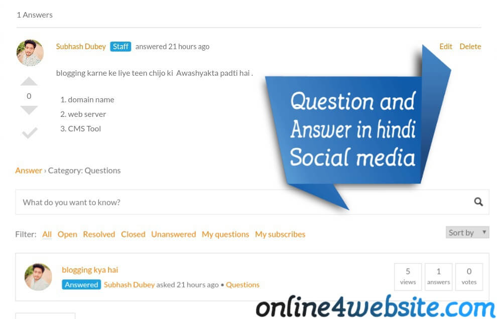 Question and Answer in hindi - off Page SEO